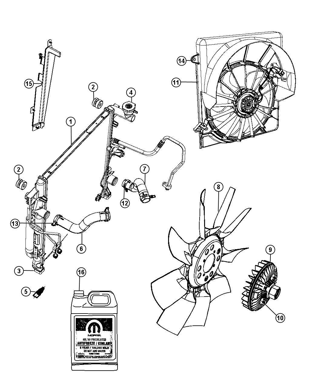 Chrysler 200 Fan Cooling Trailer Tow Group Iv