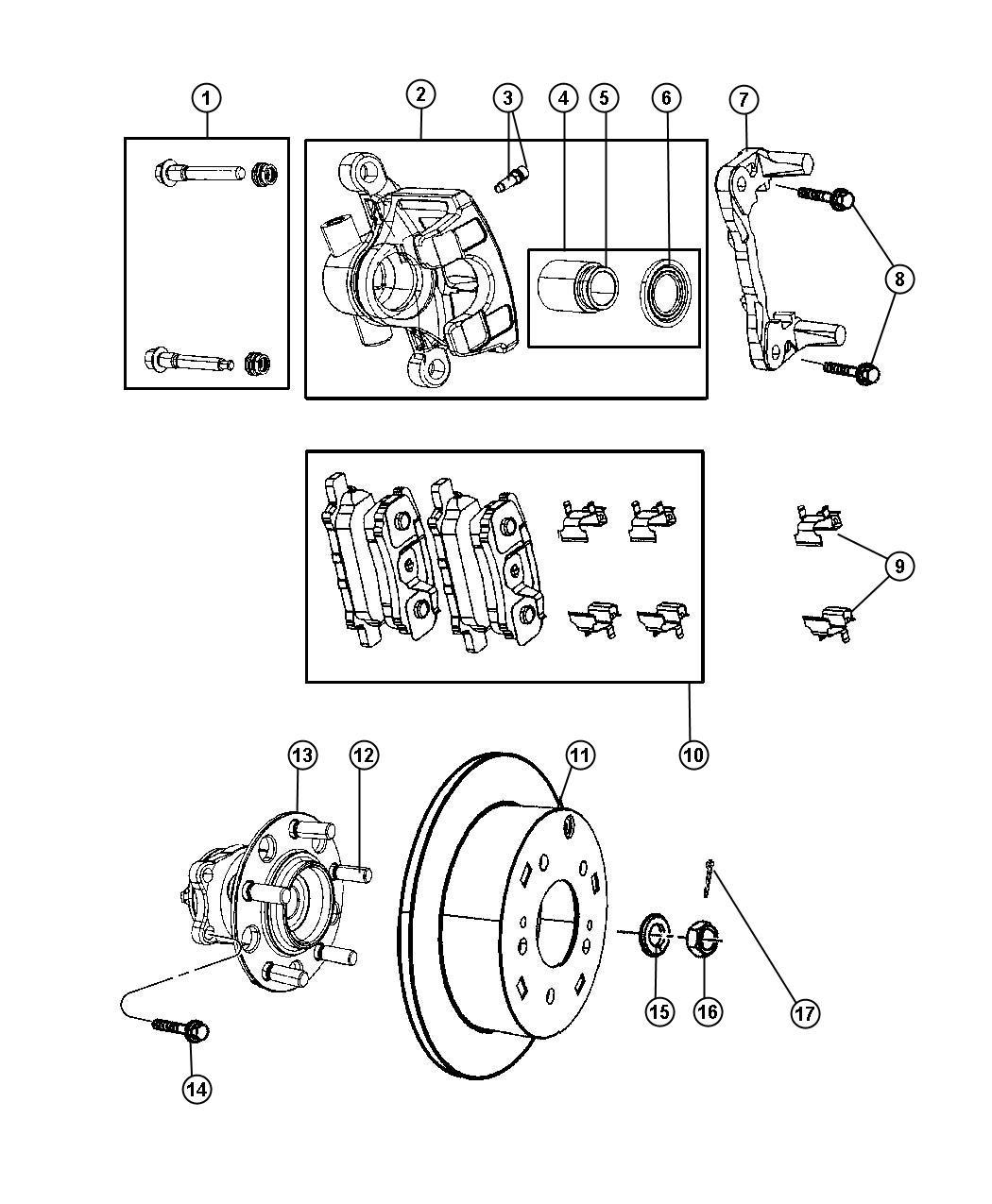 Jeep Compass Caliper Caliper Assembly Disc Brake