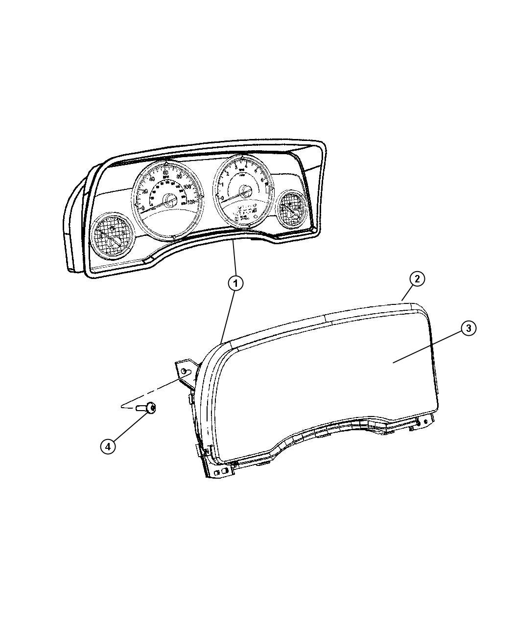 Jeep Patriot Cluster Instrument Panel Speedometer Speed