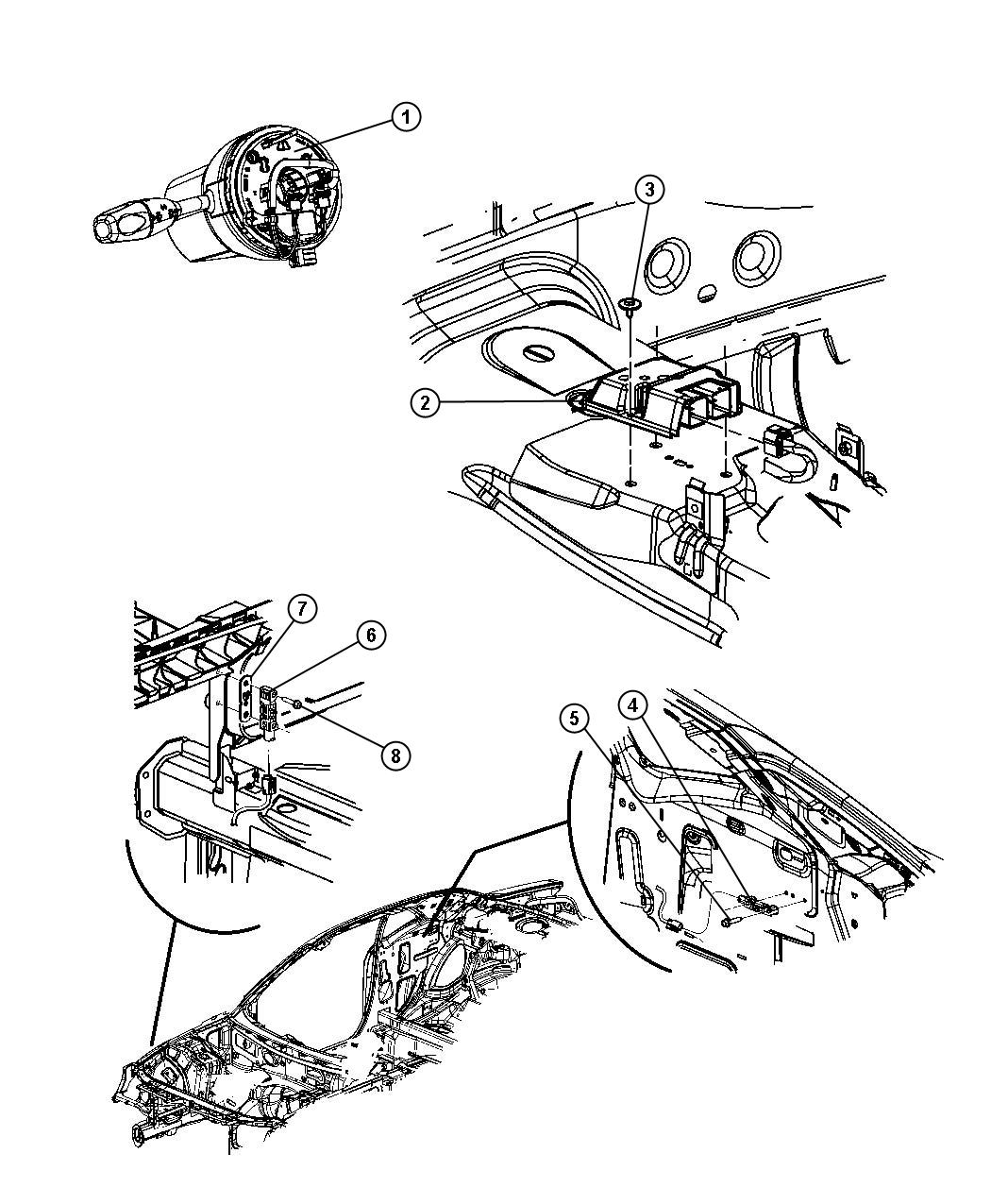 Dodge Challenger Clockspring Steering Column Control
