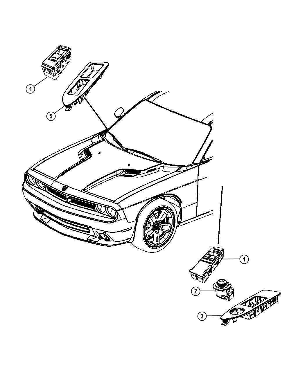 Jeep Compass Switch Mirror Trim Zl Power Fold Heated