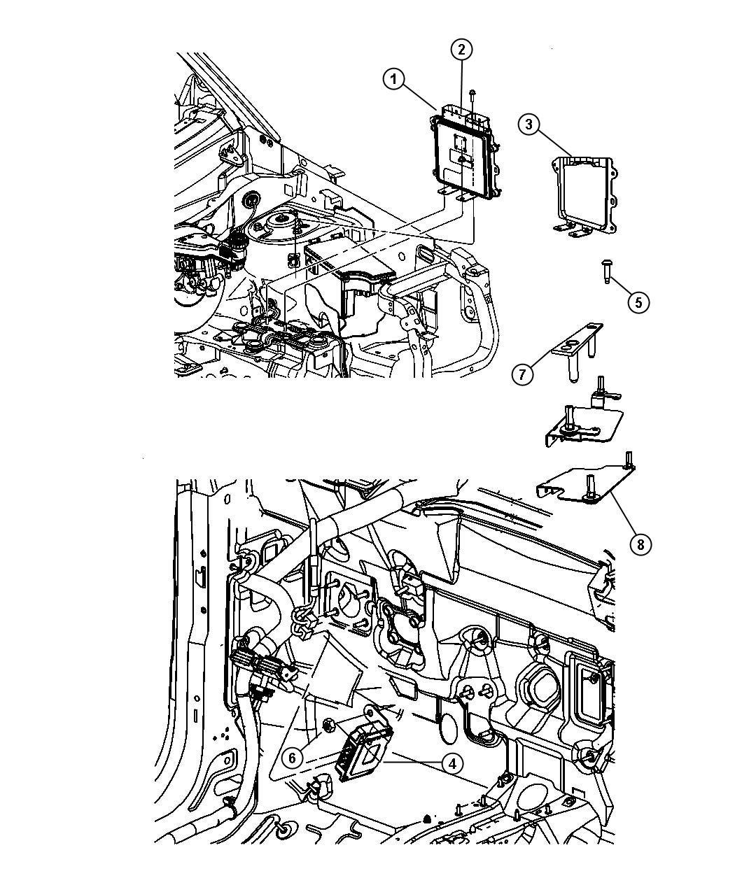 Dodge Caliber Module Engine Controller Modules