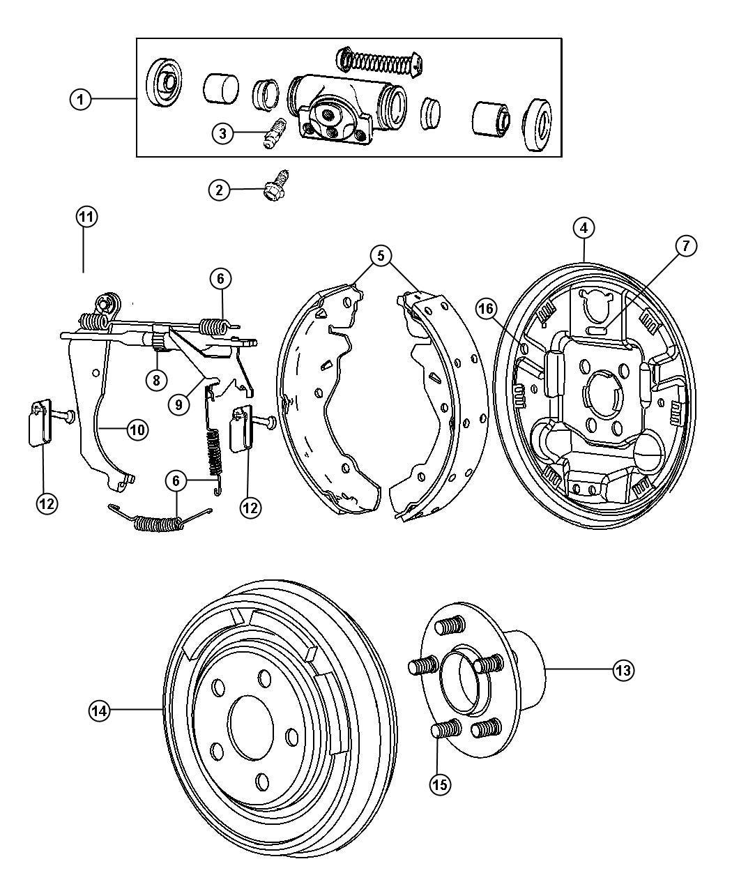 Dodge Caliber Plug Brake Adjusting Hole Left Right