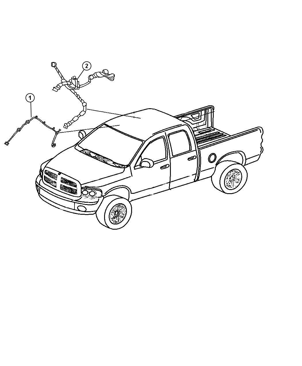 Dodge Ram Wiring Header Rear View Auto Dim Mirror