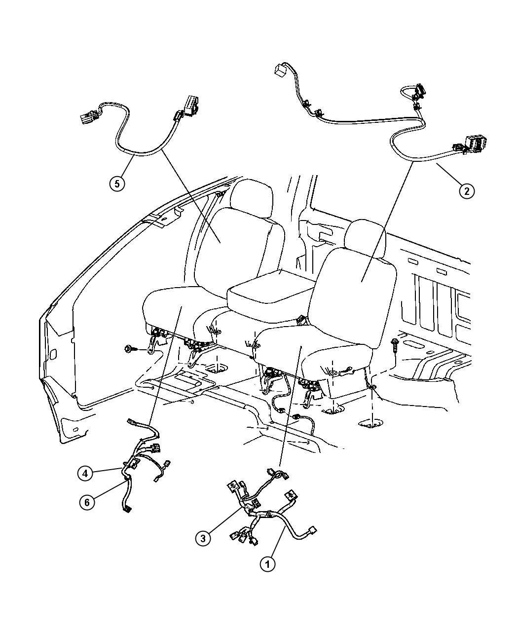 Dodge Ram Wiring Power Seat Right Trim Premium