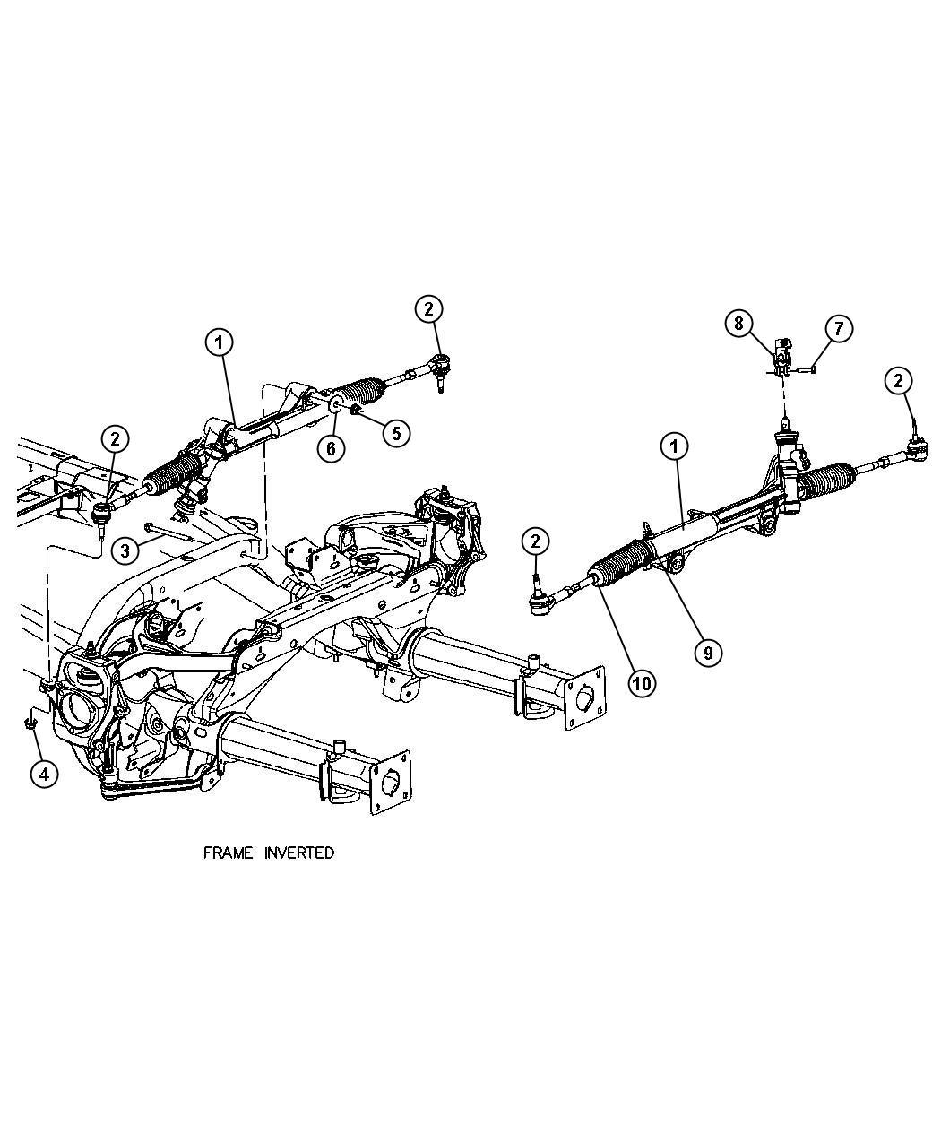 Dodge Durango Tie Rod Kit Inner End Used With Rack