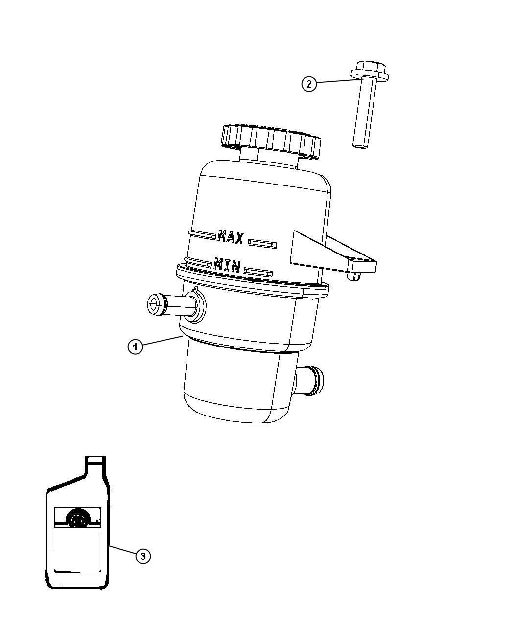 Chrysler Pacifica Fluid Power Steering Pump Reservoir