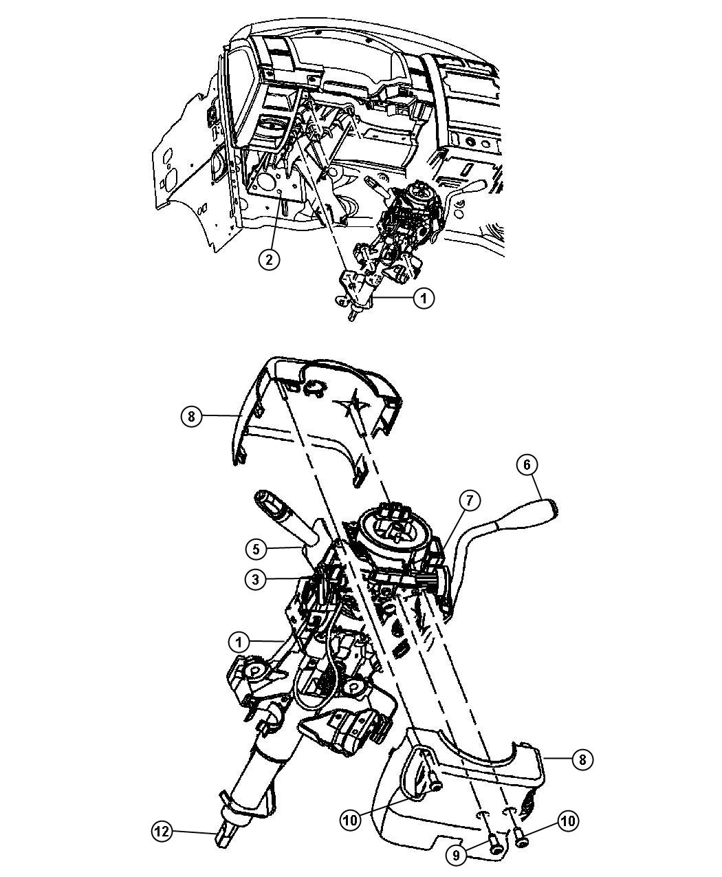 Dodge Durango Shaft Intermediate Steering Column