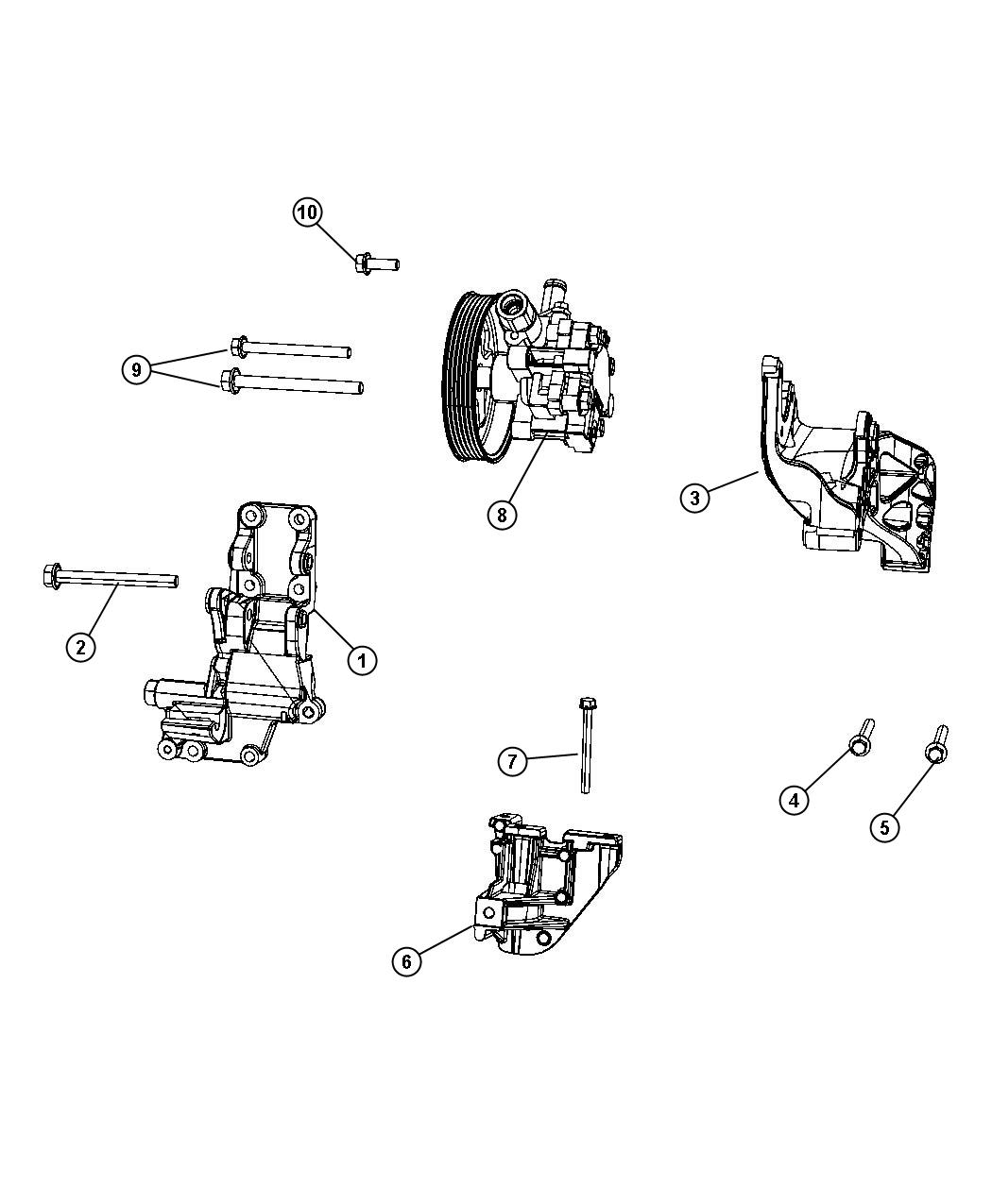 Chrysler Sebring Pump Power Steering Remanufactured