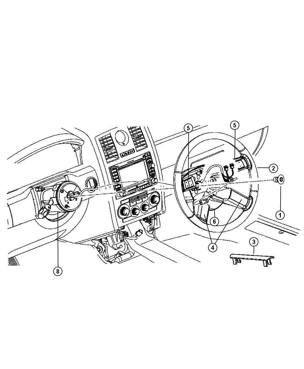 Chrysler 300 Bolt Screw Steering Wheel Steering