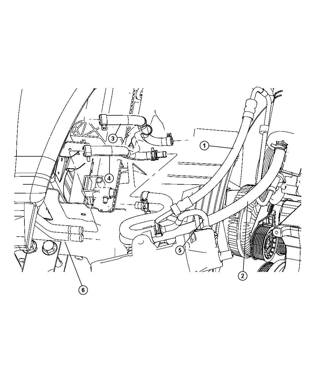 Dodge Ram Hose Power Steering Return Group