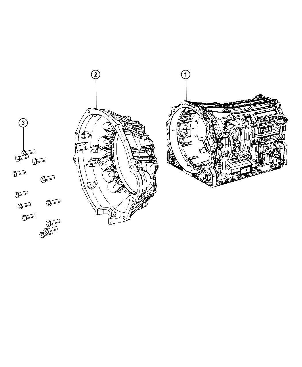Dodge Ram Housing Torque Converter Case Related