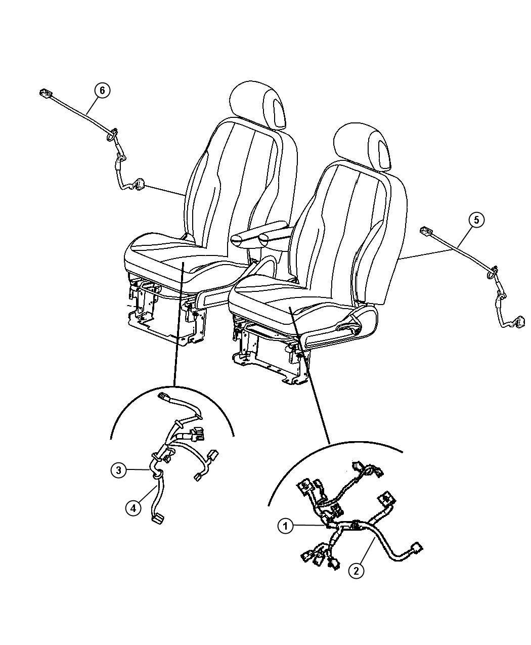 Chrysler Pt Cruiser Wiring Power Seat Drivers Side