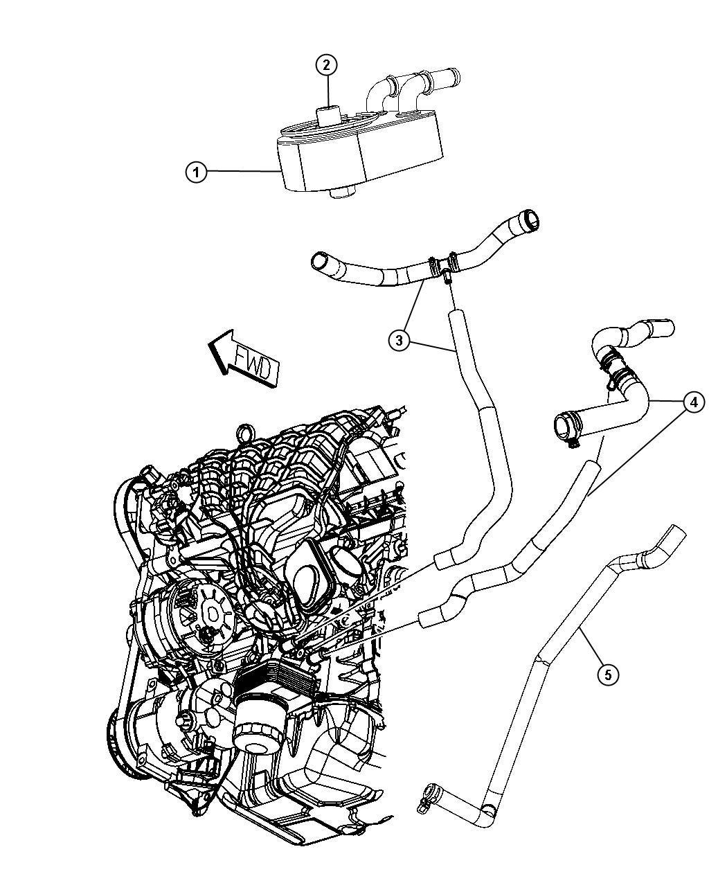 Jeep Compass Hose Radiator Inlet Upper