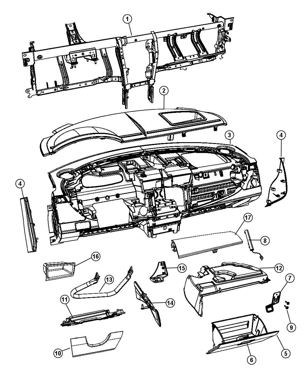 Dodge Avenger Bin Storage J1 Trim All Trim Codes