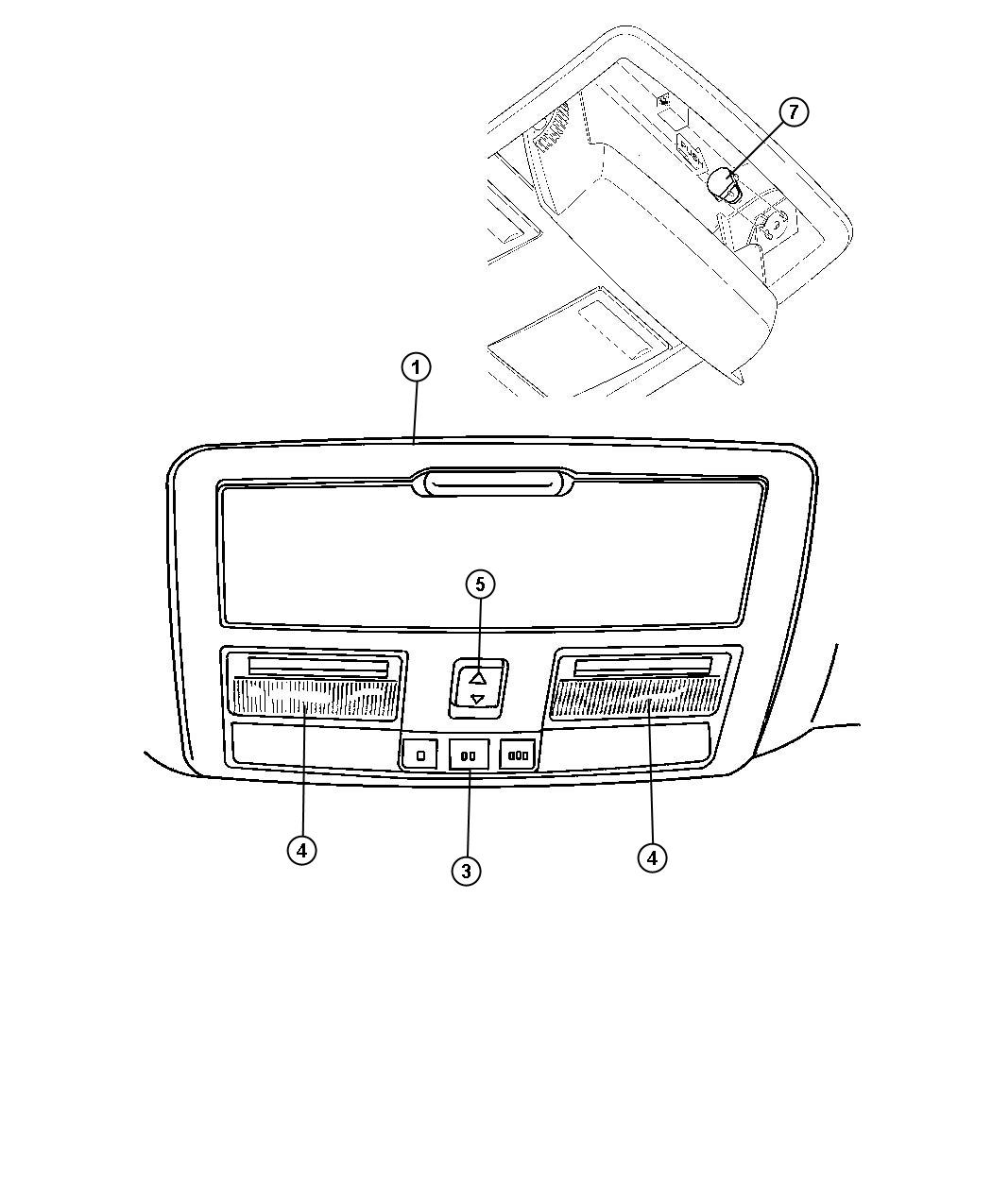 Dodge Magnum Console Overhead Gnc Without Gwa Without Gwa Trim O0 Color