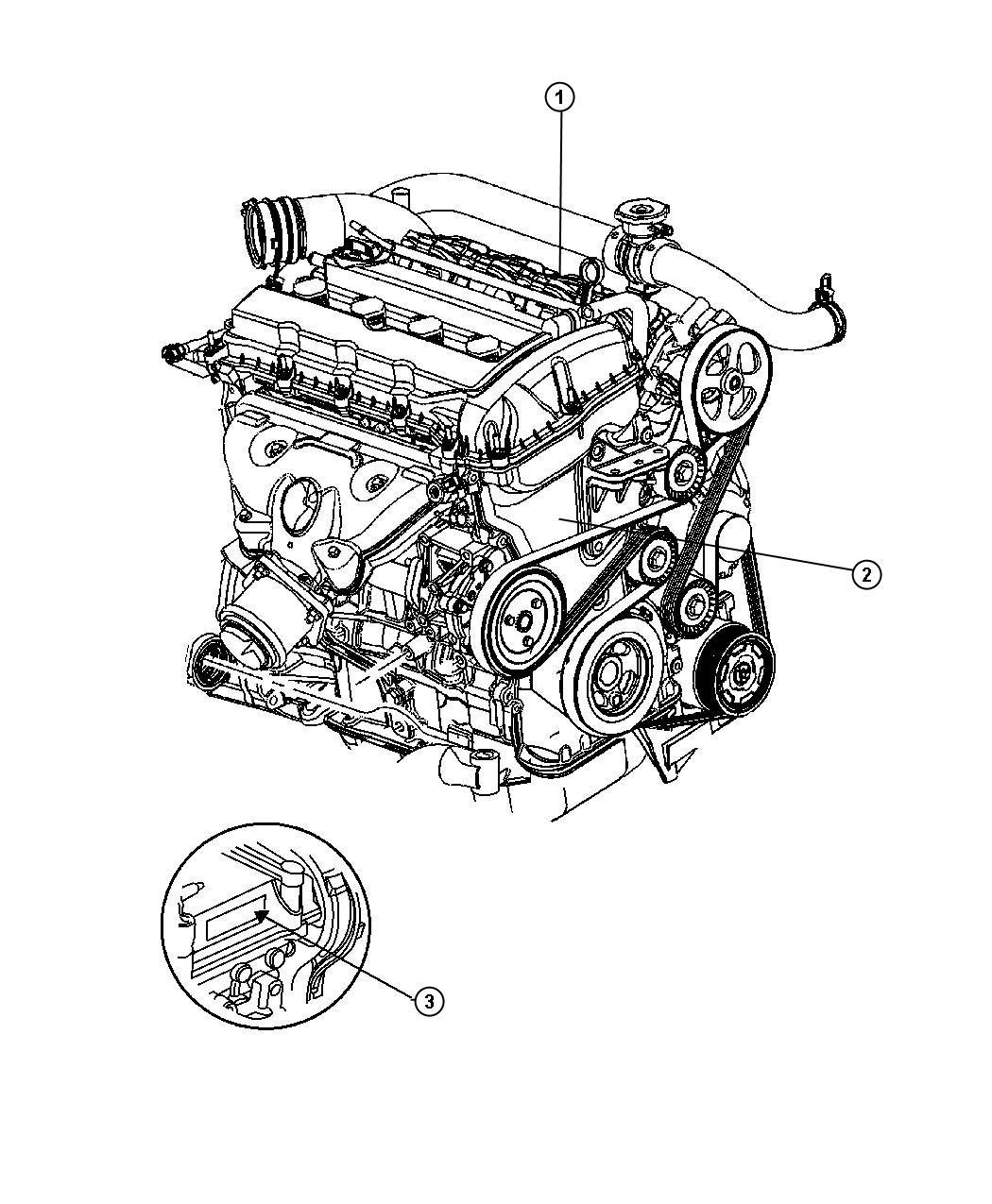 Dodge Caliber Engine Long Block Remanufactured Engine