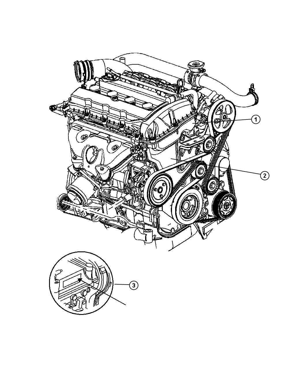 Chrysler 200 Engine Long Block Engine Oil Cooler