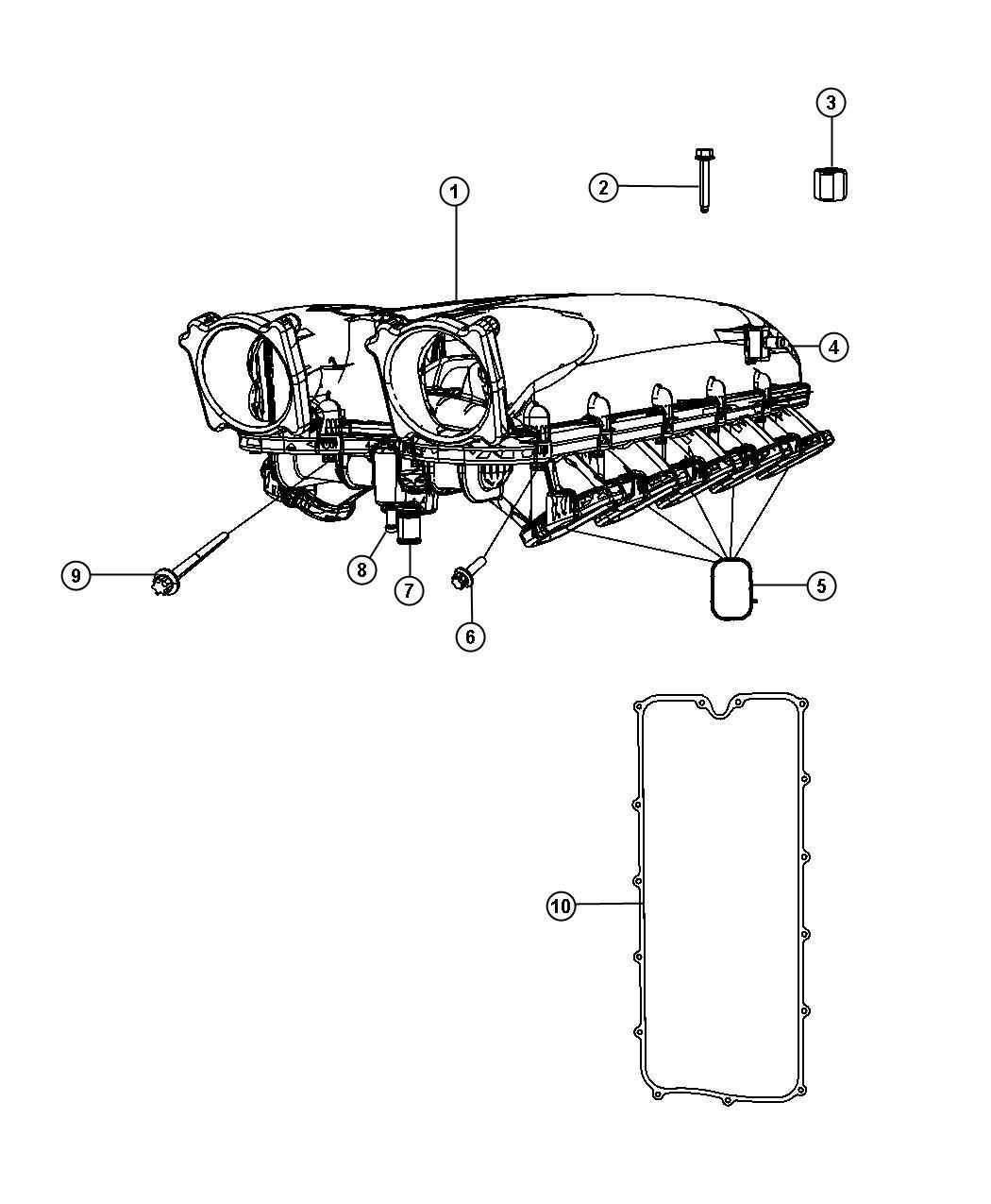 Dodge Viper Gasket Intake Plenum Ewe Engine