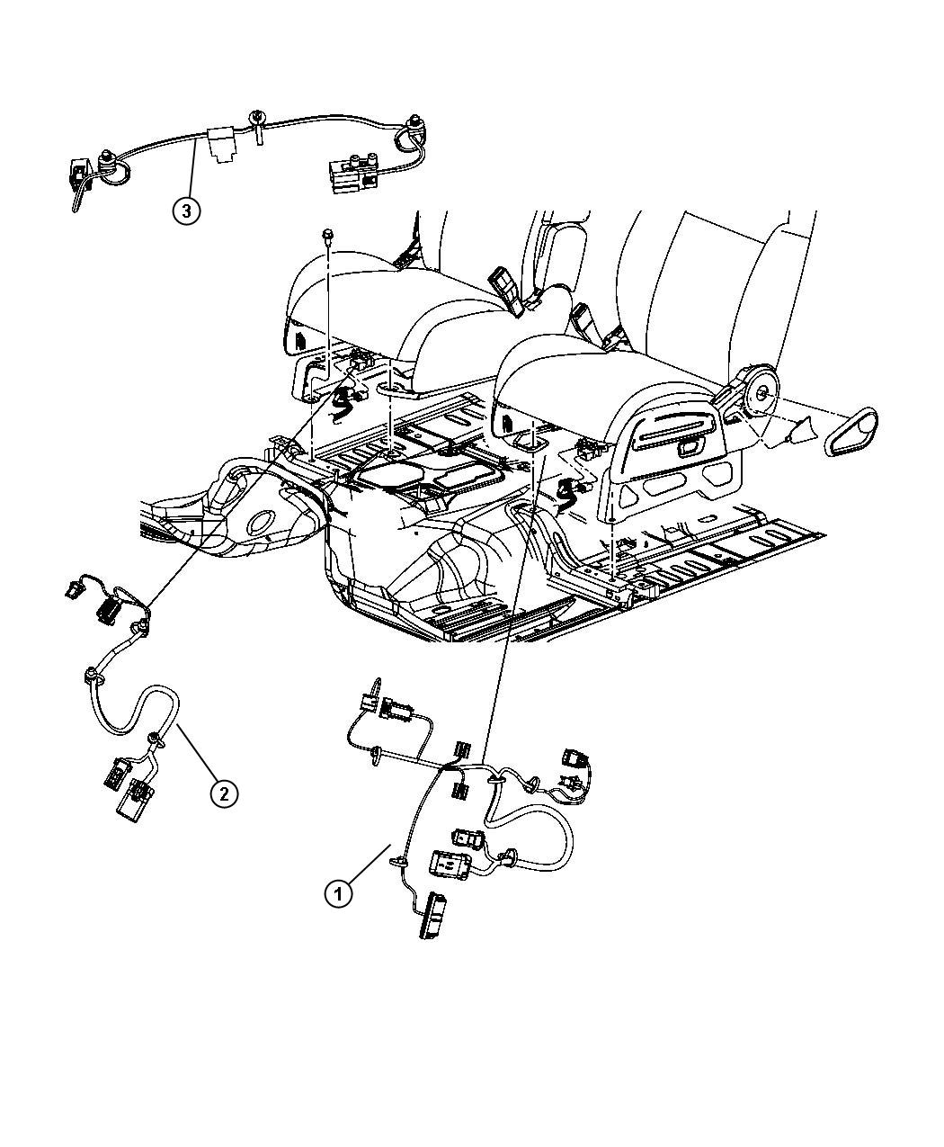 Dodge Caliber Wiring Seat Side Air Bag Heated Side