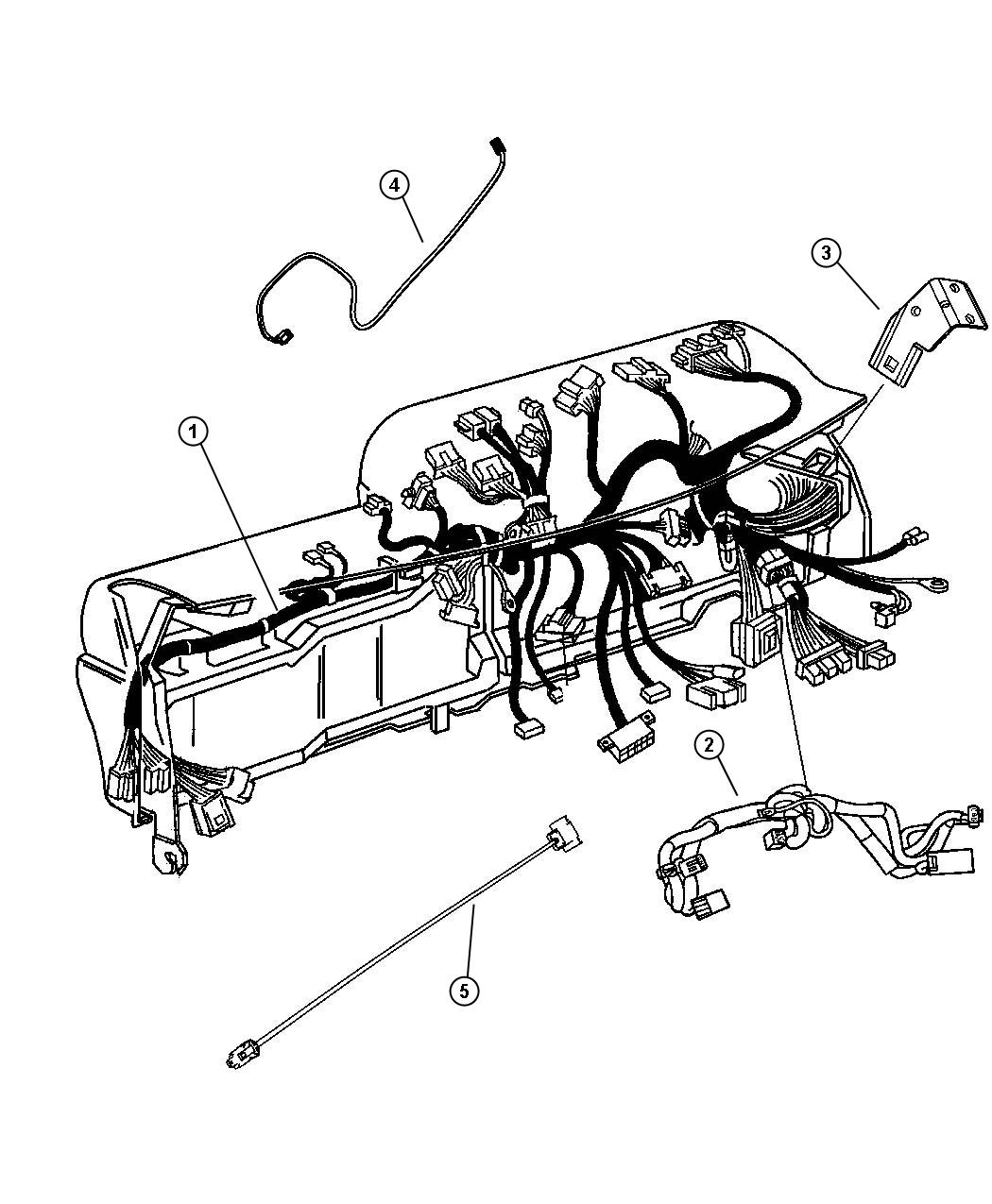 Dodge Ram Wiring Instrument Panel 2 Speakers