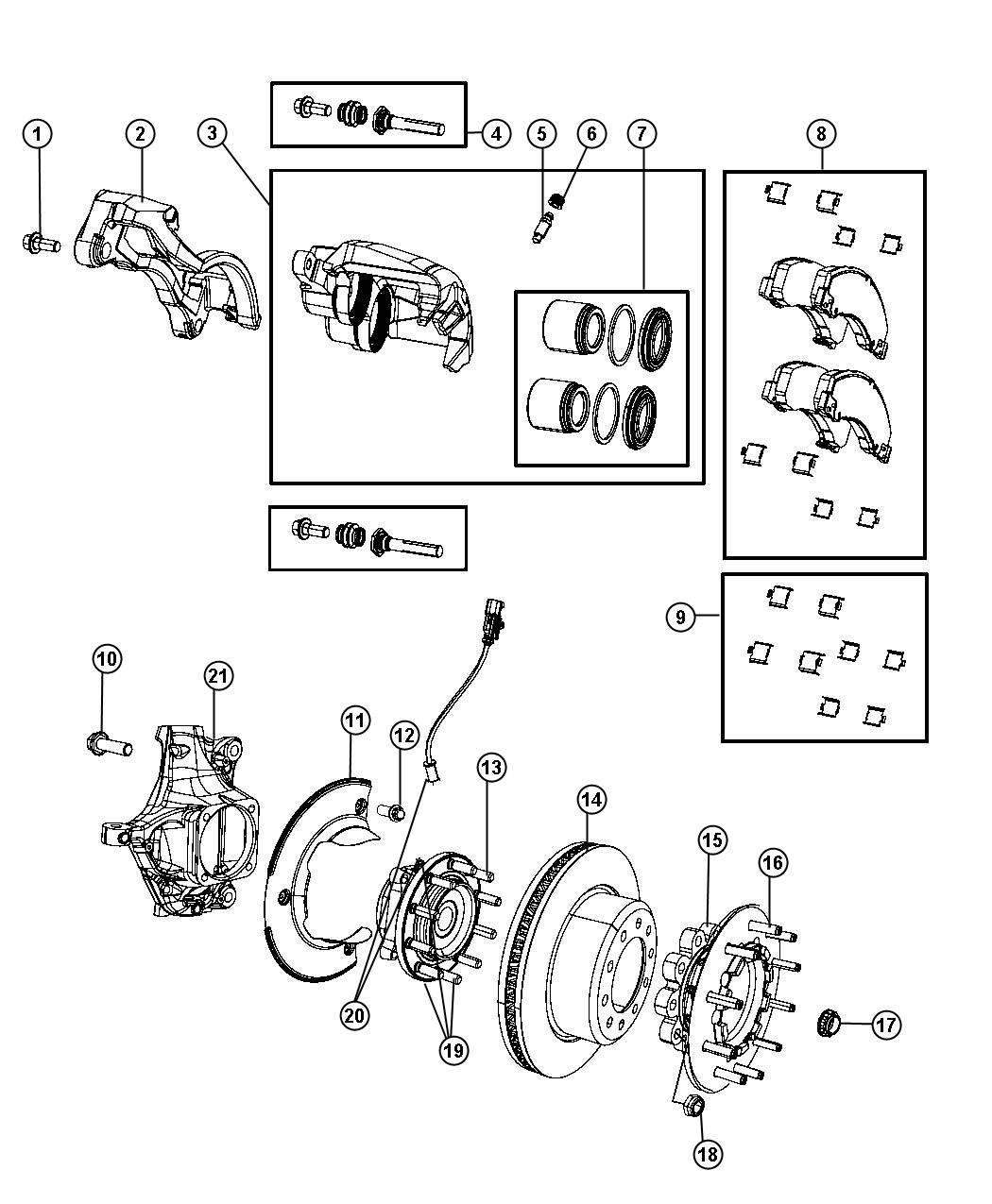 Ram Rotor Brake Front Axle Ratio Frt