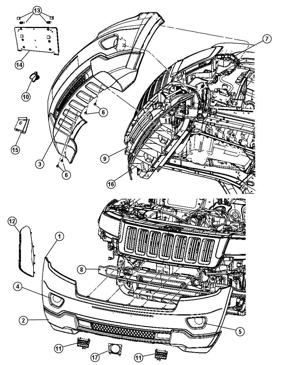 Jeep Grand Cherokee Applique Fascia