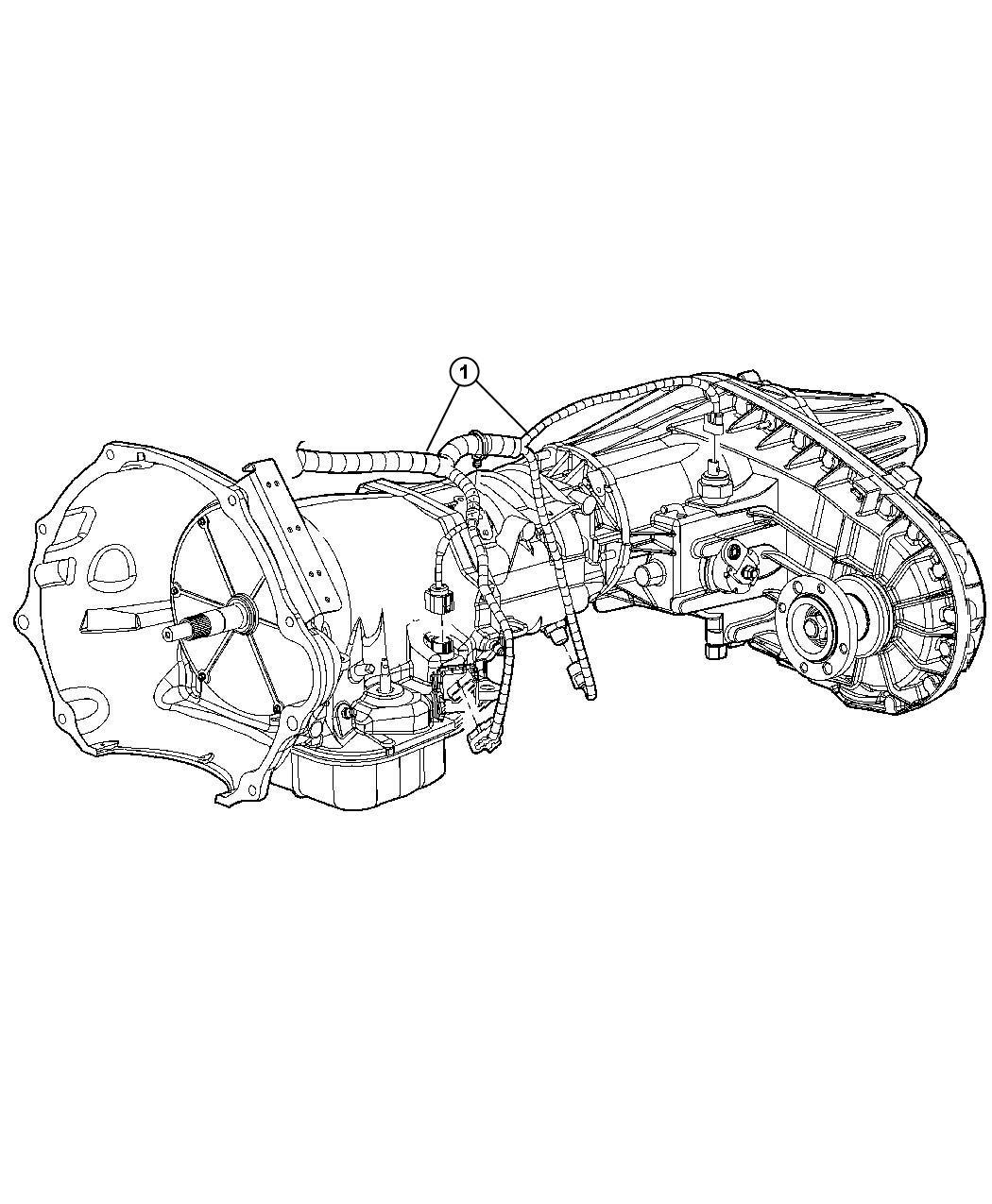 Dodge Ram Wiring Transmission Case Transfer