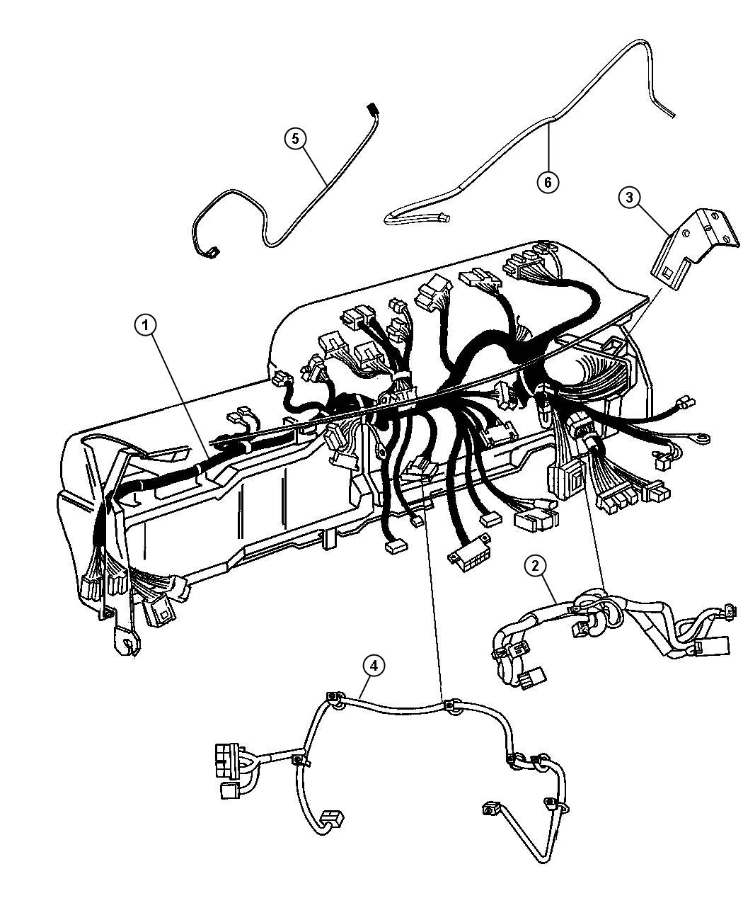 Dodge Ram Wiring Instrument Panel Module Xrb Xac