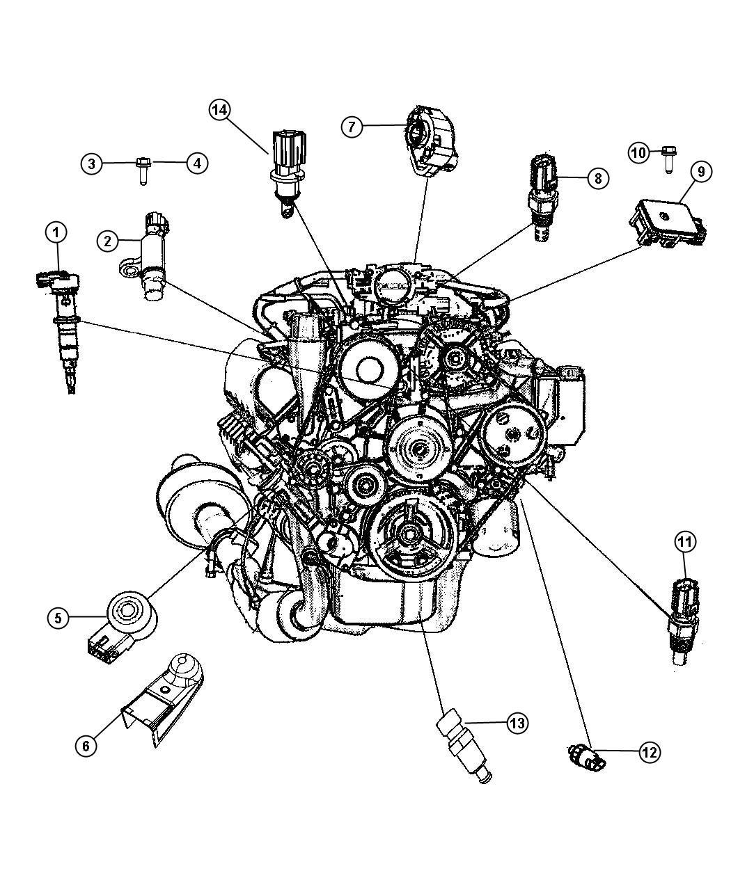 Chrysler Sebring Sensor Crankshaft Position