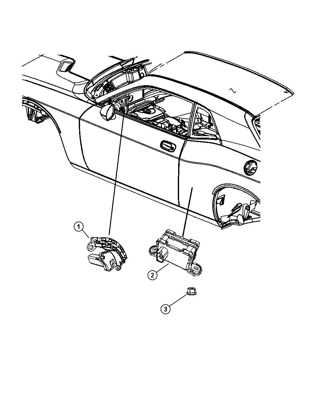 Dodge Challenger Sensor Steering Wheel Angle Power Tilt