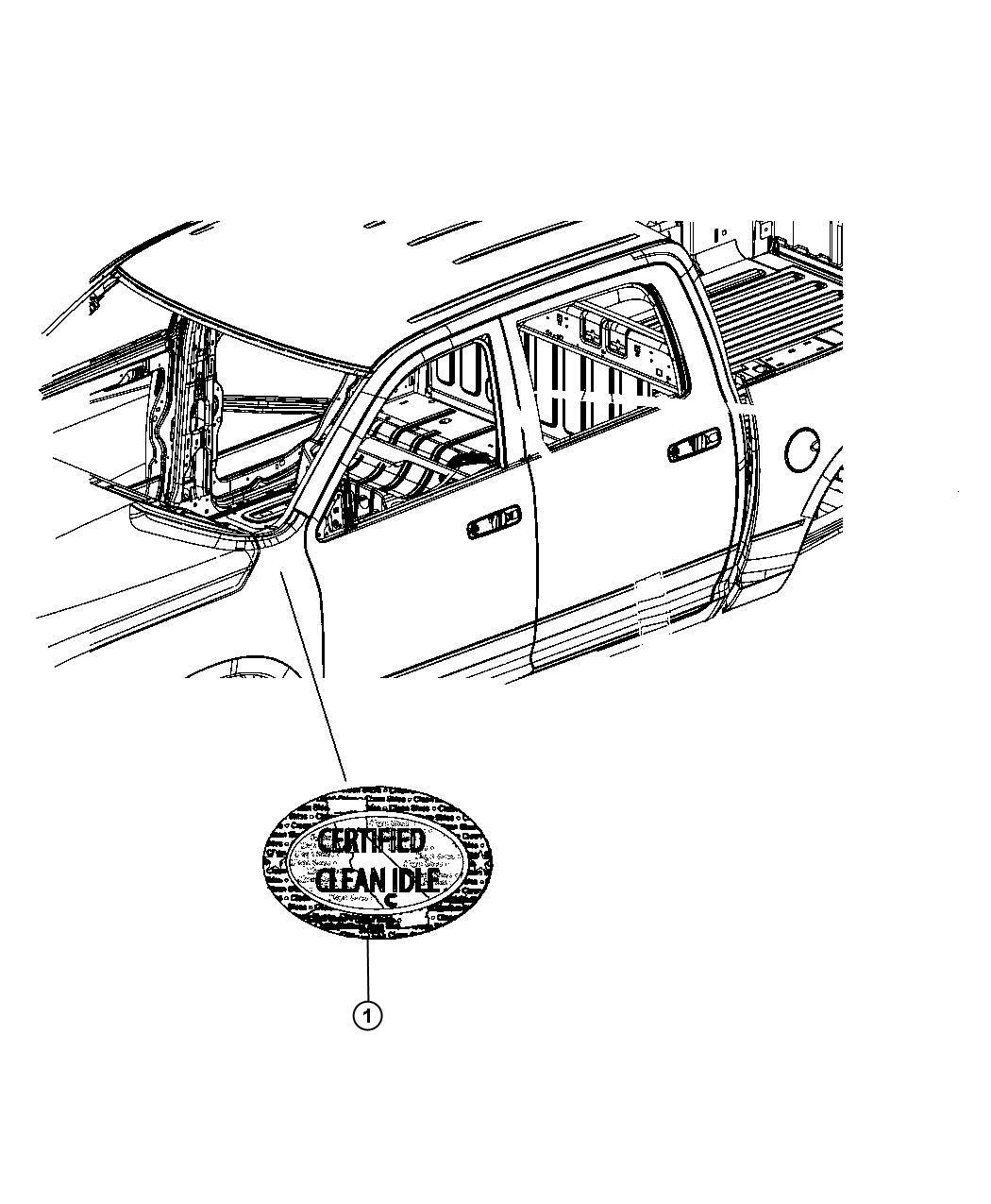 Dodge Ram Label Clean Idle Emissions 3 7l V6