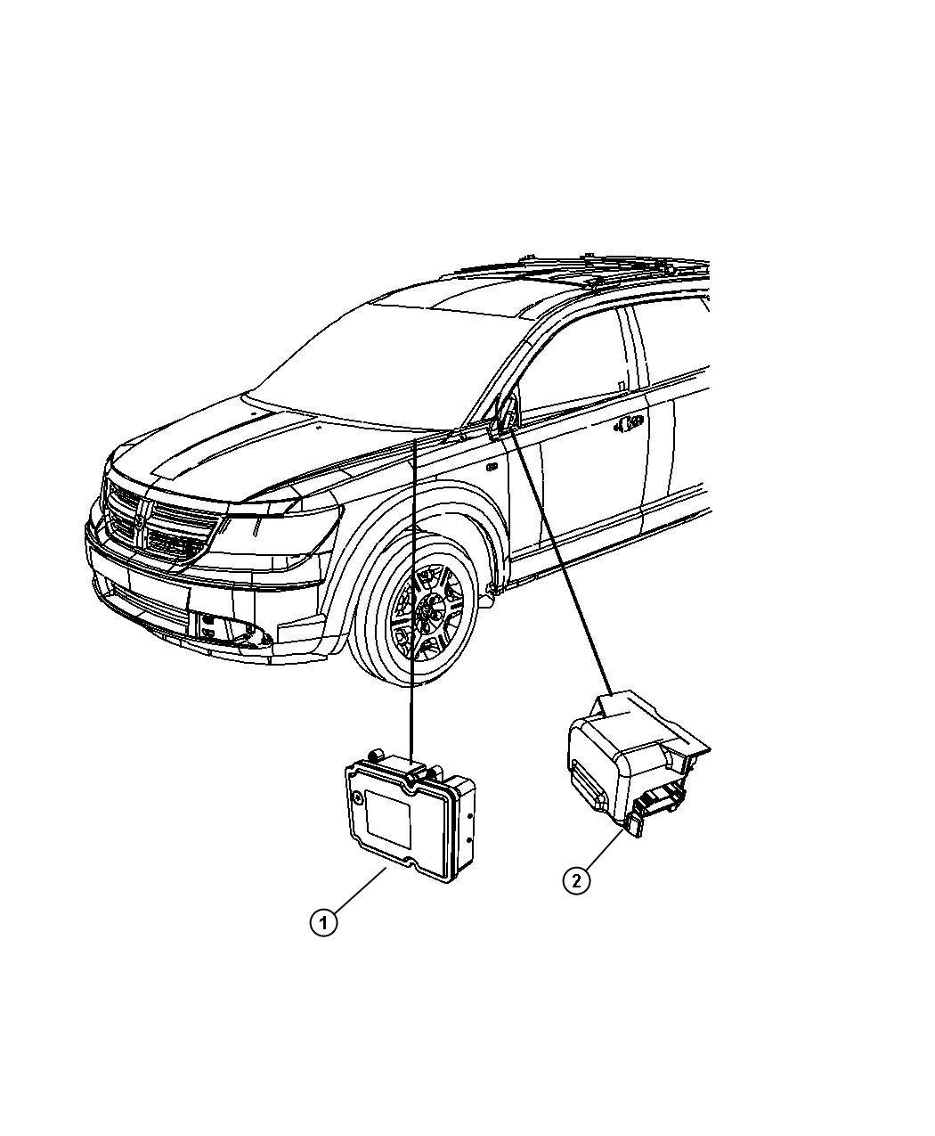 Dodge Journey Module Anti Lock Brake System Lhd