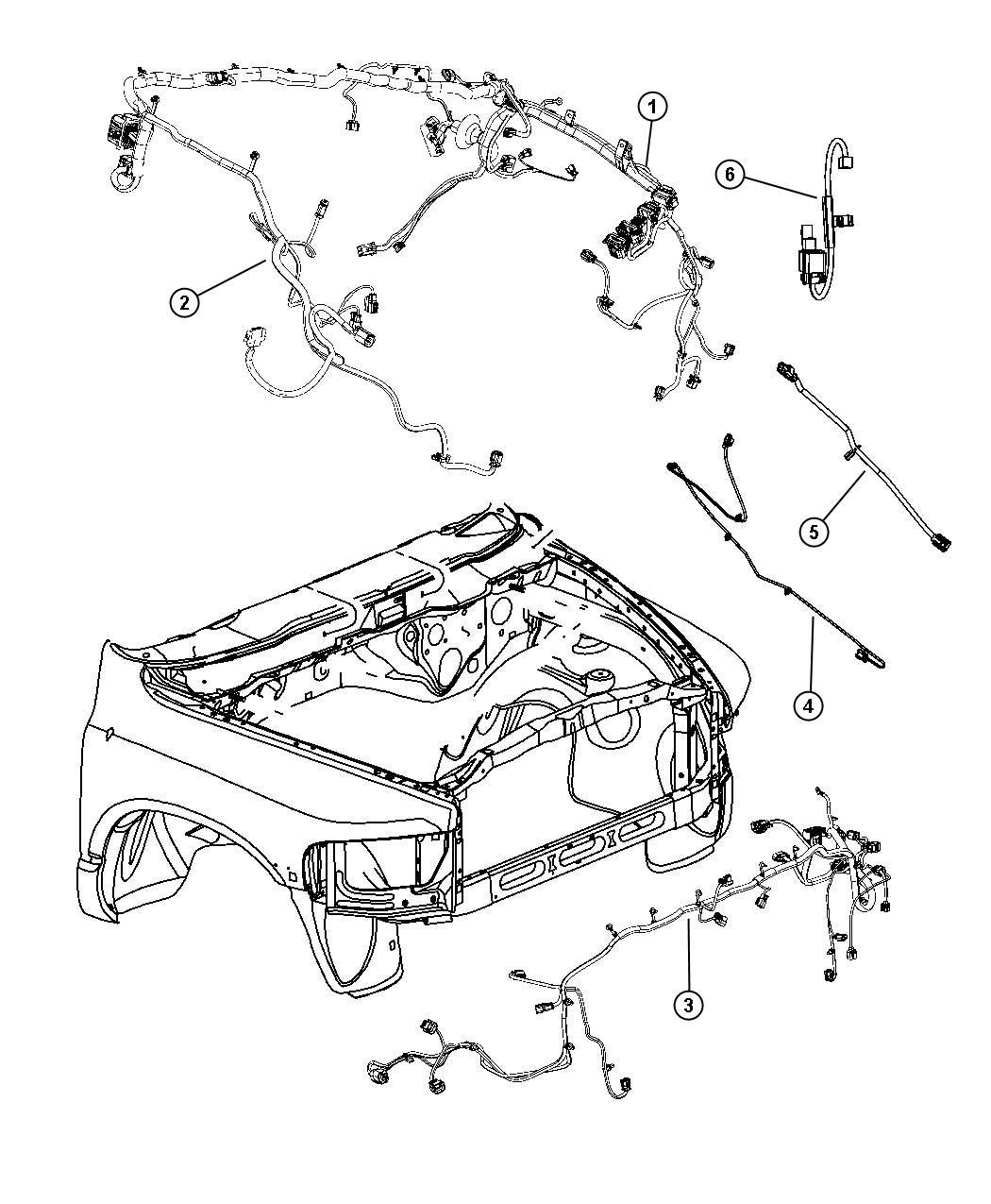 Dodge Ram Wiring Dash Right Headlamp Mopar