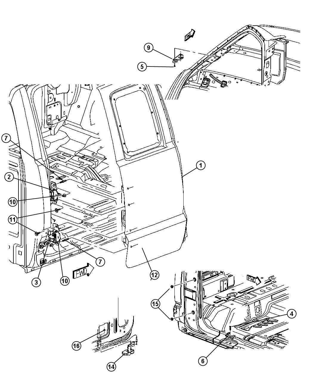 Dodge Dakota Latch Right Cargo Door Lower Rear