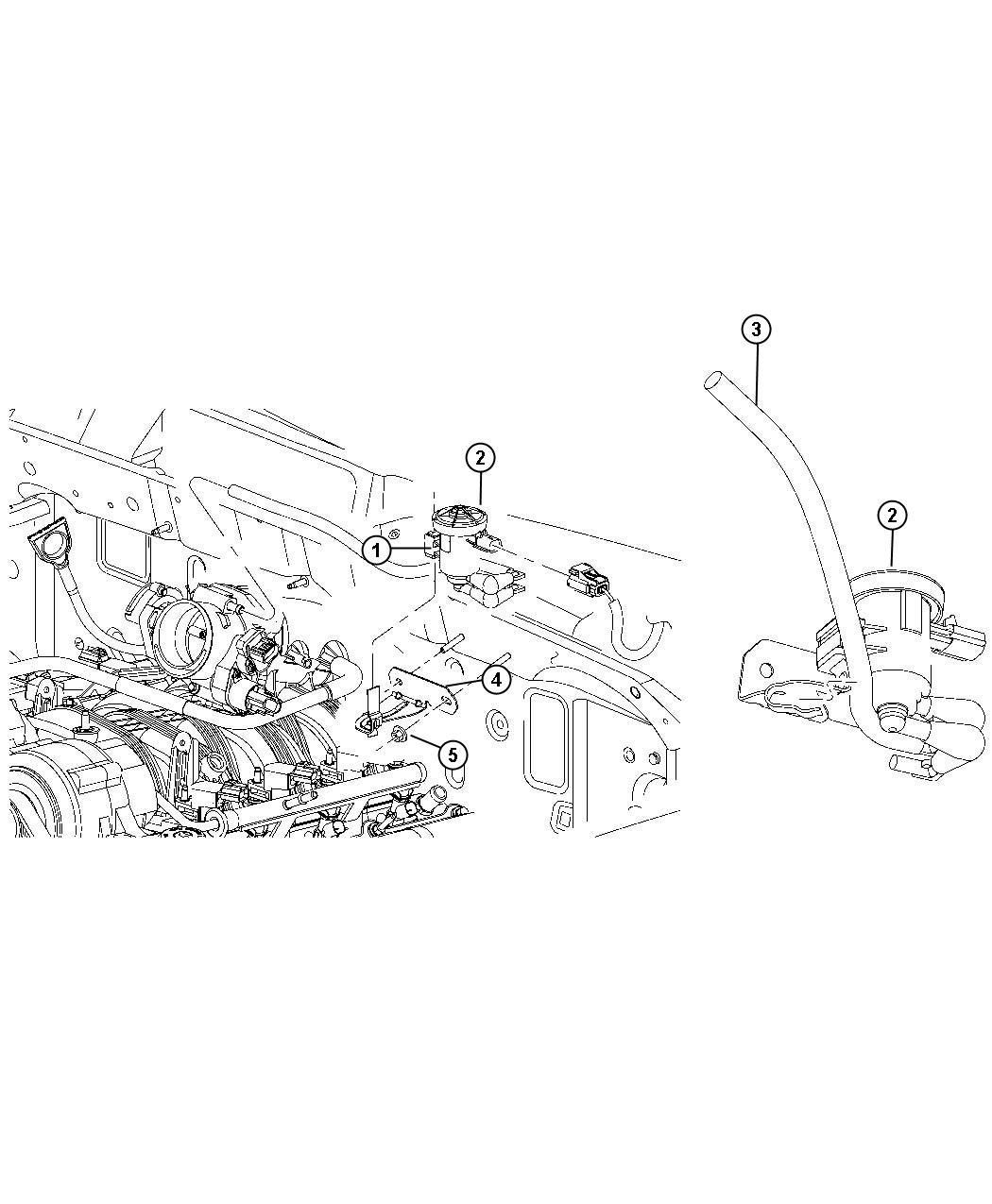Dodge Dakota Bracket Linear Purge Valve