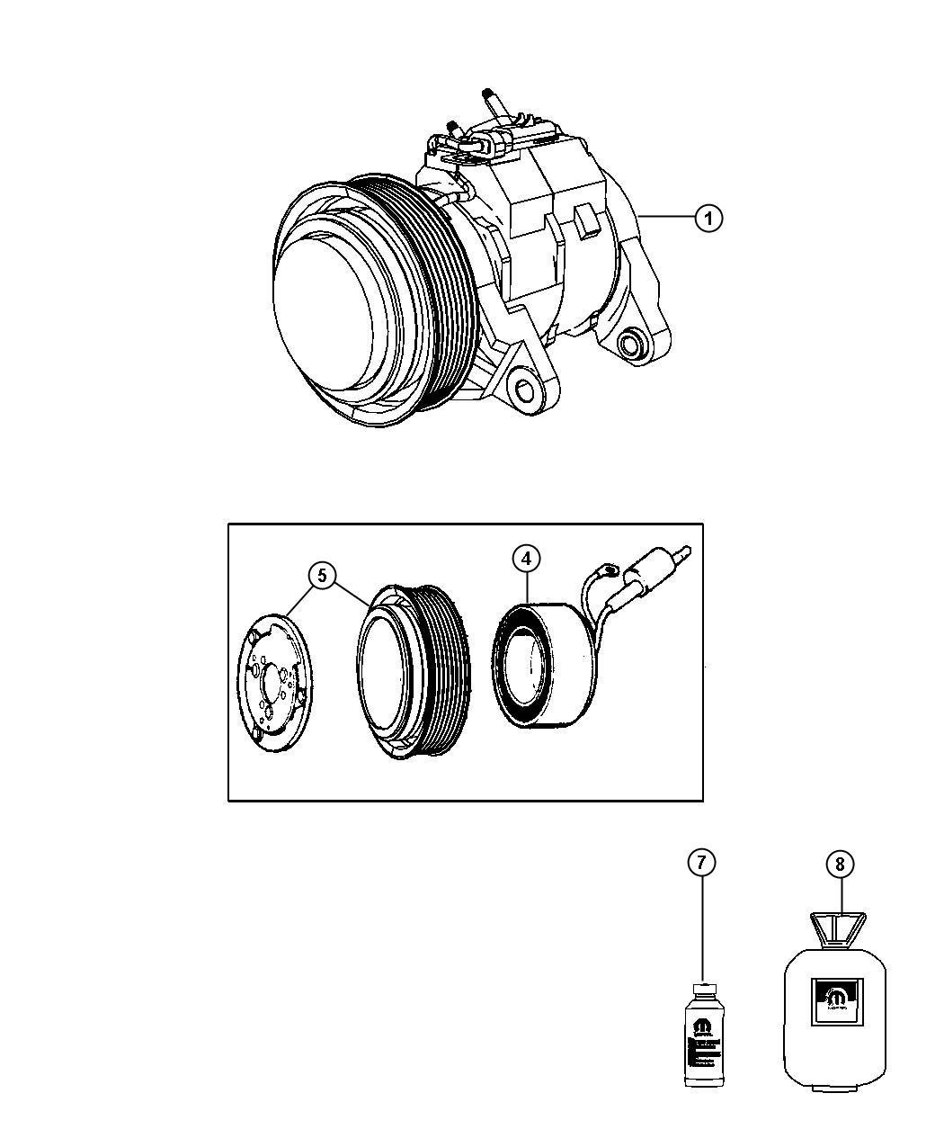 Dodge Dakota Compressor Air Conditioning Remanufactured New For Core Return