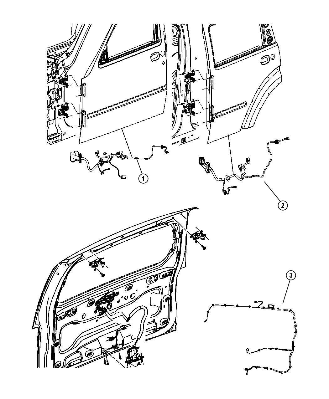 Dodge Nitro Wiring Rear Door Right Or Left 4