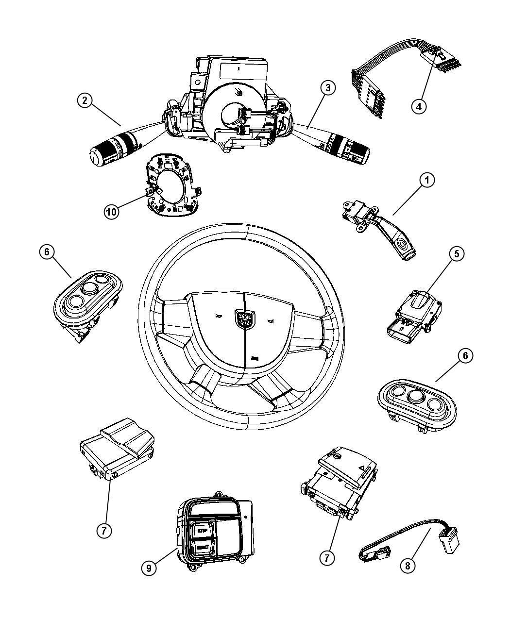 Jeep Liberty Wiring Steering Wheel Trim No
