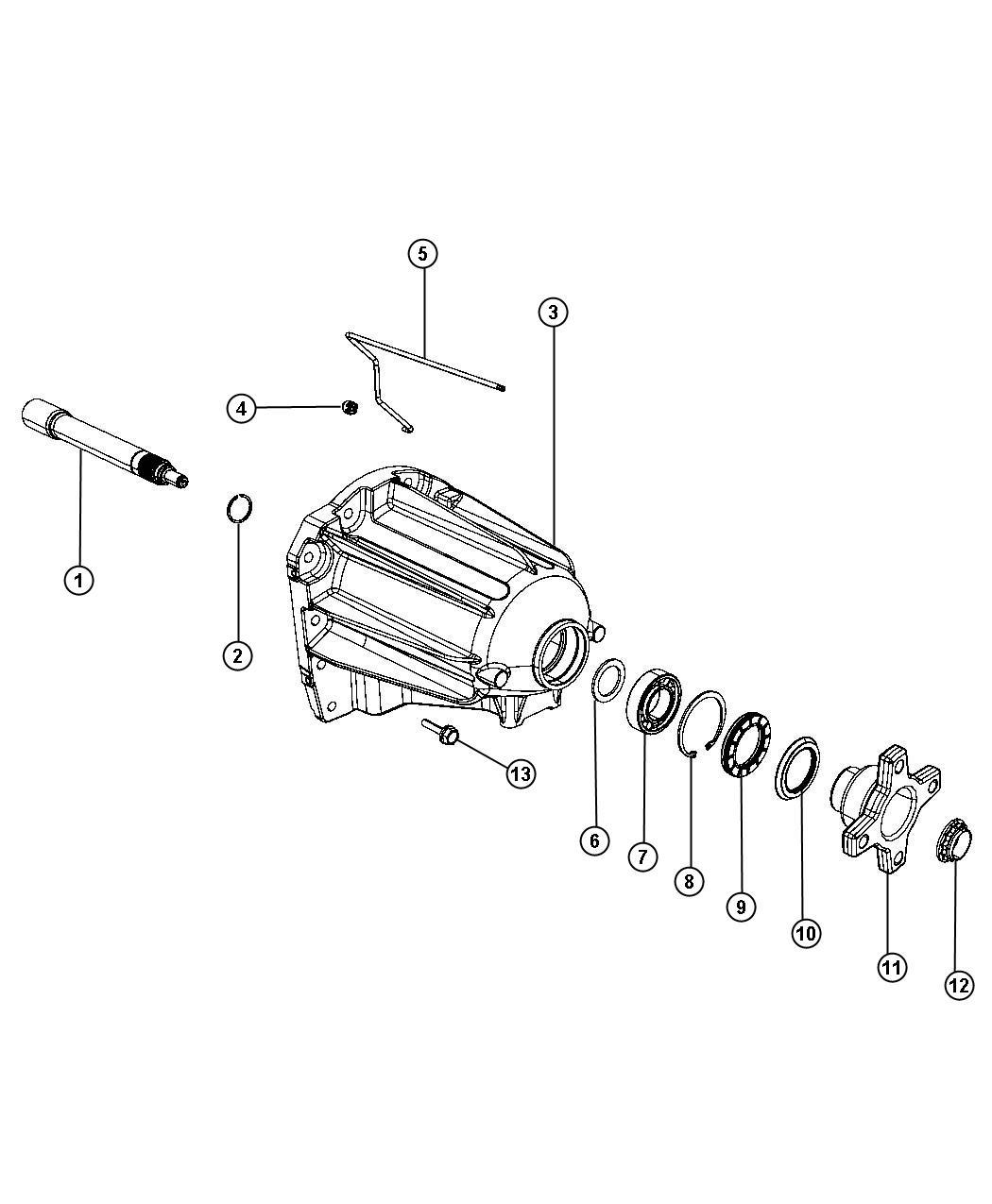 Dodge Nitro Bearing Output Shaft Extension