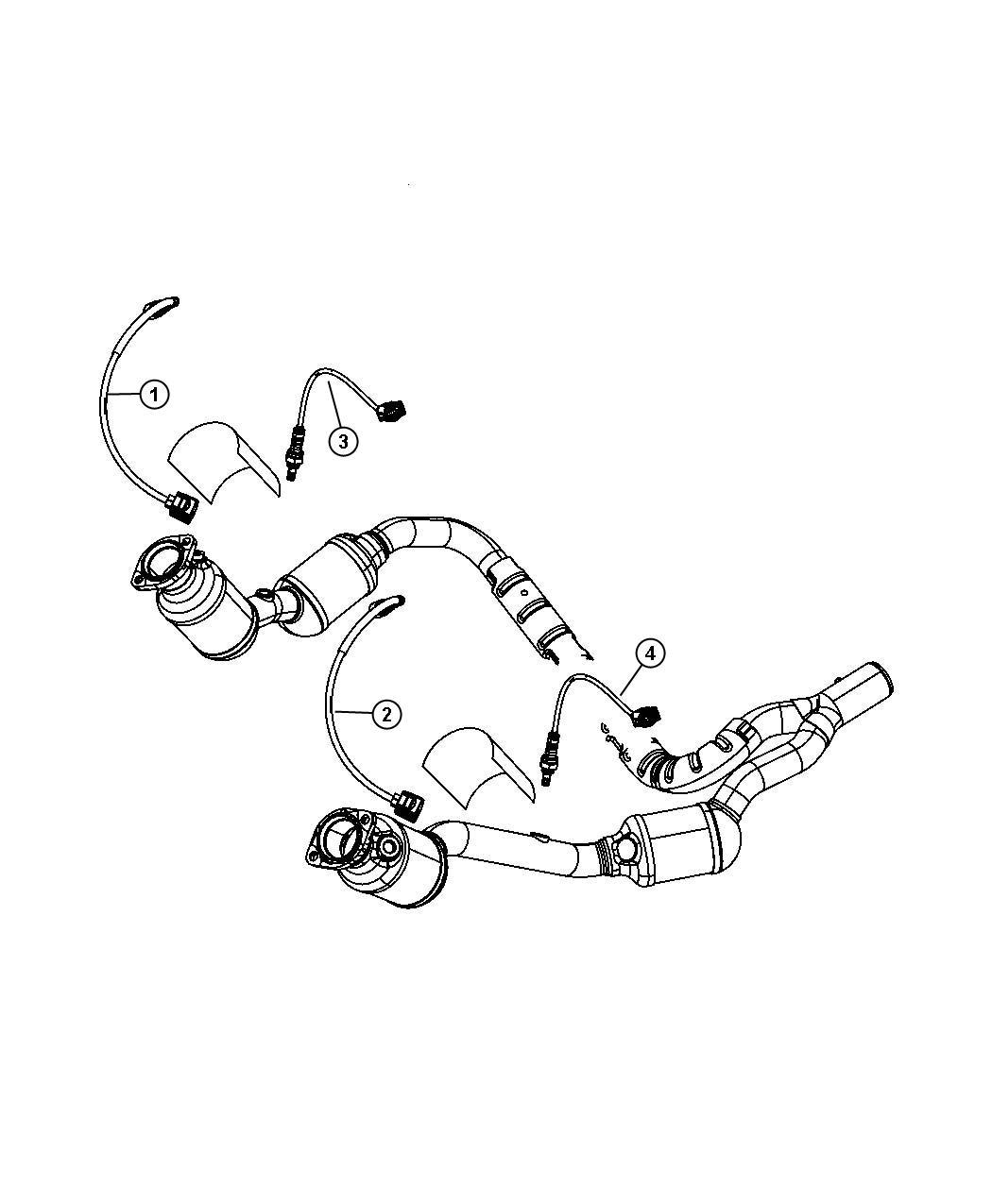 Jeep Wrangler Sensor Oxygen After Catalyst Before