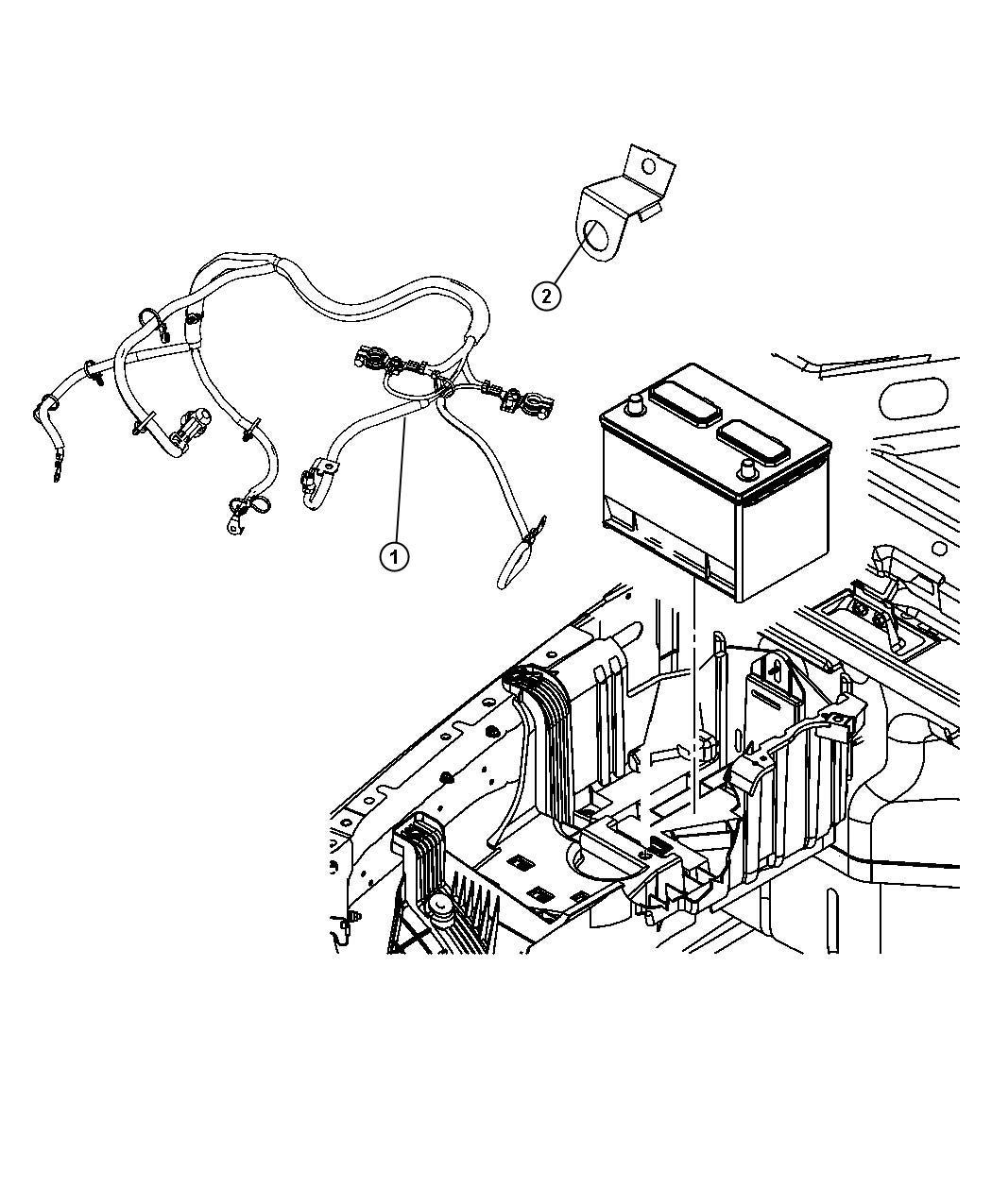 Jeep Wrangler Wiring Battery Mopar Module Complete
