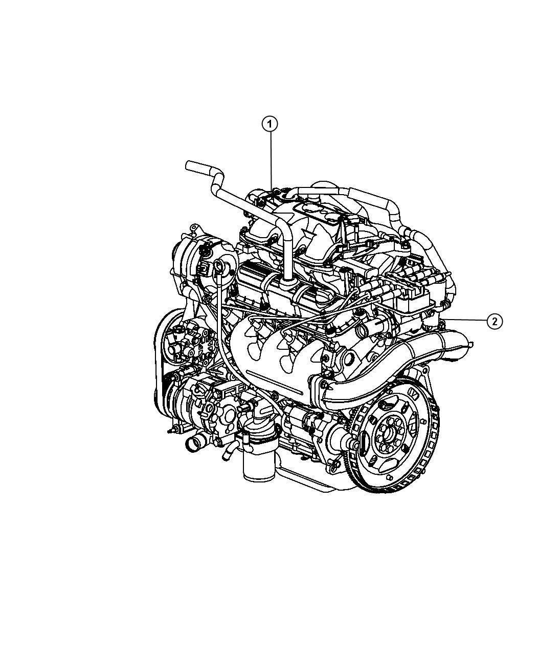 Jeep Wrangler Engine Long Block Remanufactured Timing