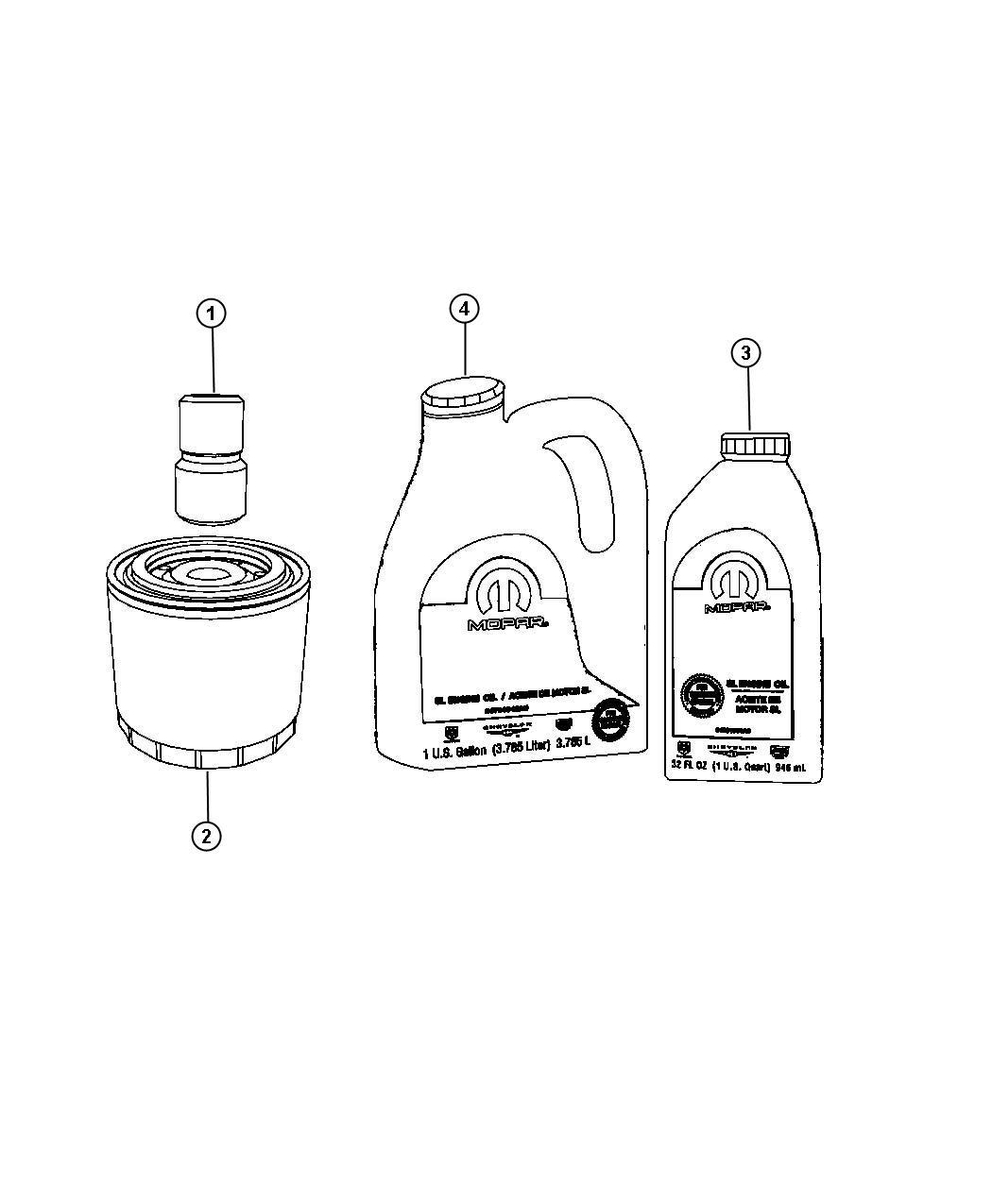 Chrysler Cirrus Filter Engine Oil