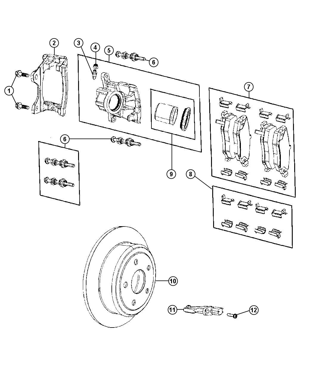Jeep Wrangler Pad Kit Rear Disc Brake Magneti