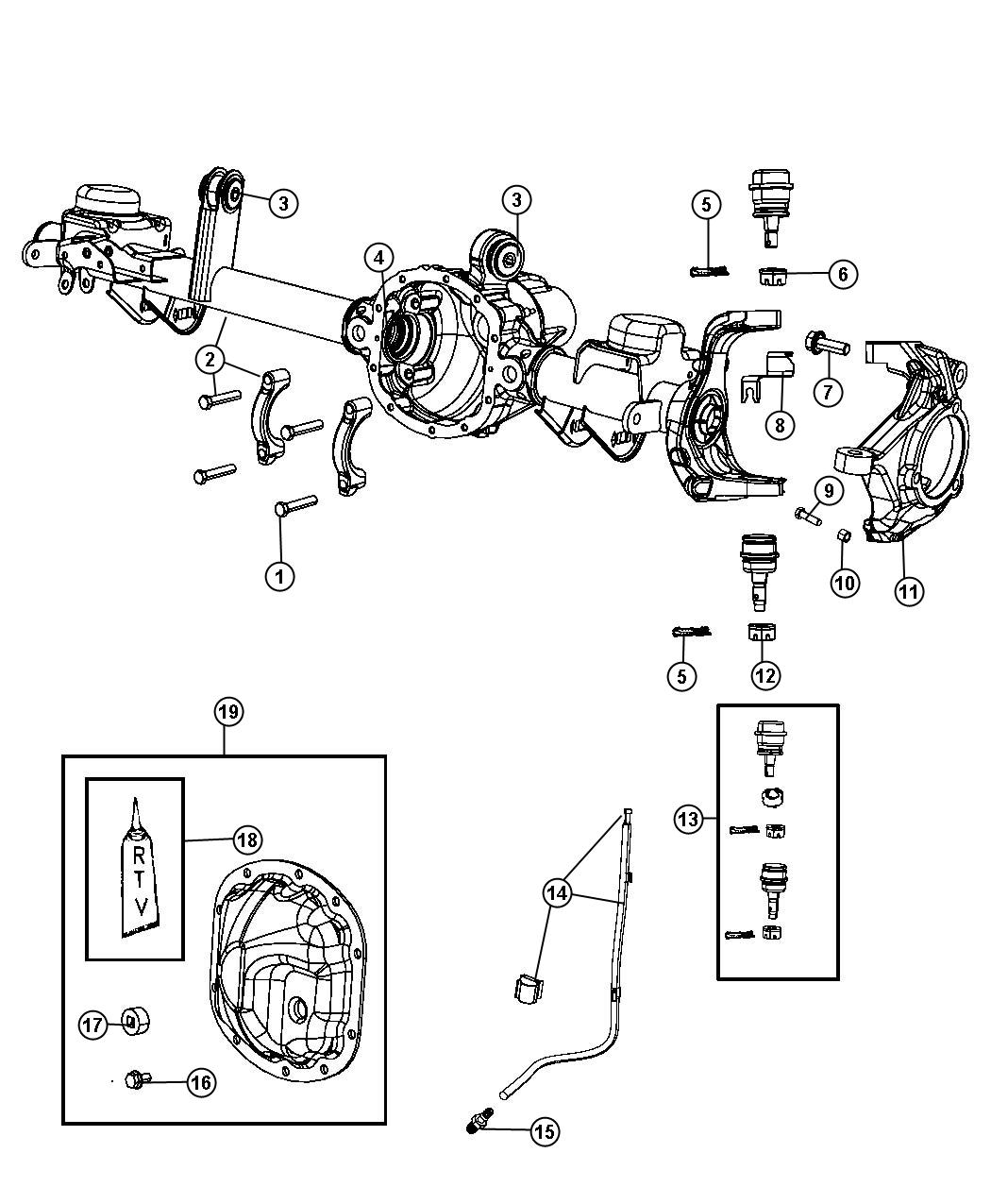 Jeep Wrangler Housing Axle Ratio Differential