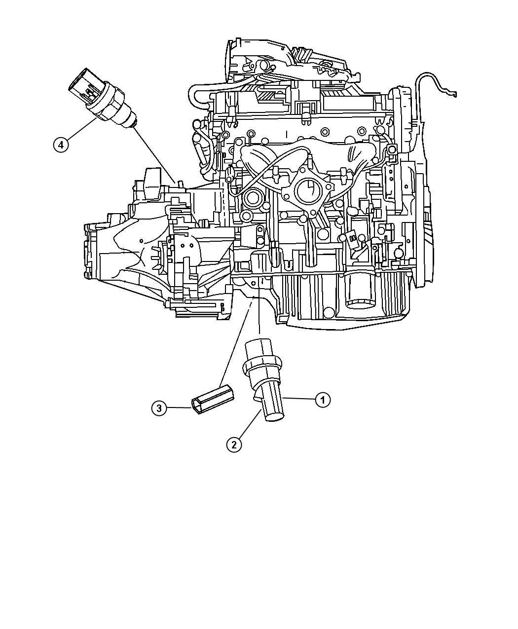 Chrysler Sebring Shield Wiring Powertrain Engine