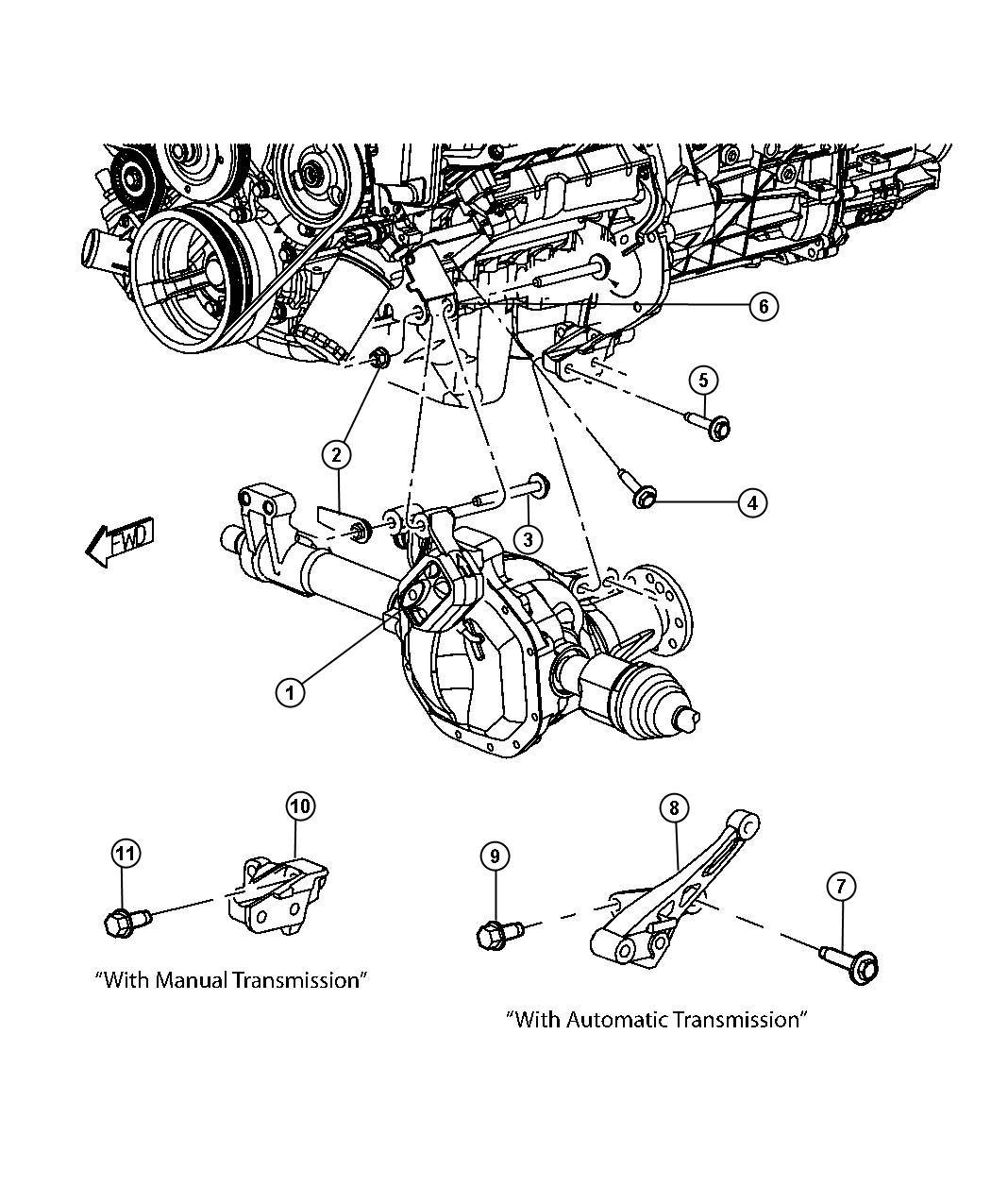 Dodge Dakota Bracket Transmission Mount Engine