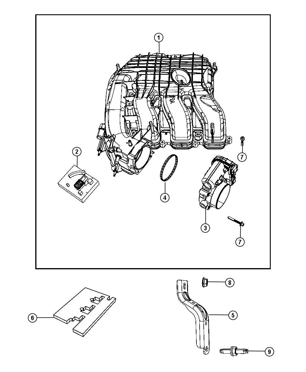 Chrysler Sebring Throttle Body 3 6l Mid V6 Engine