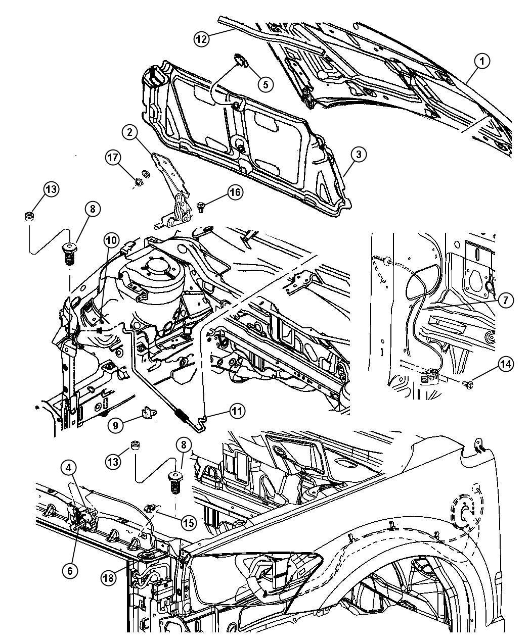 Dodge Caliber Latch Hood Remote Start System